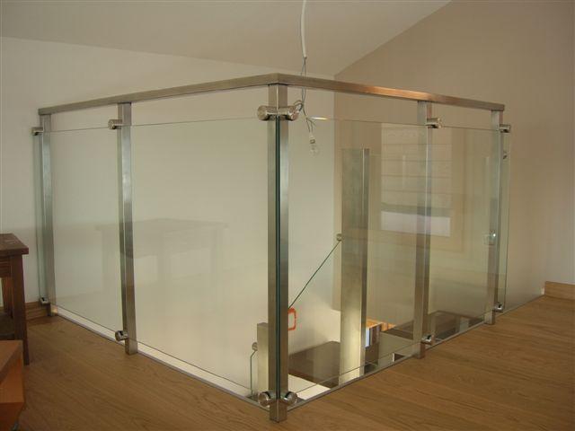 Escalier inox verre annecy