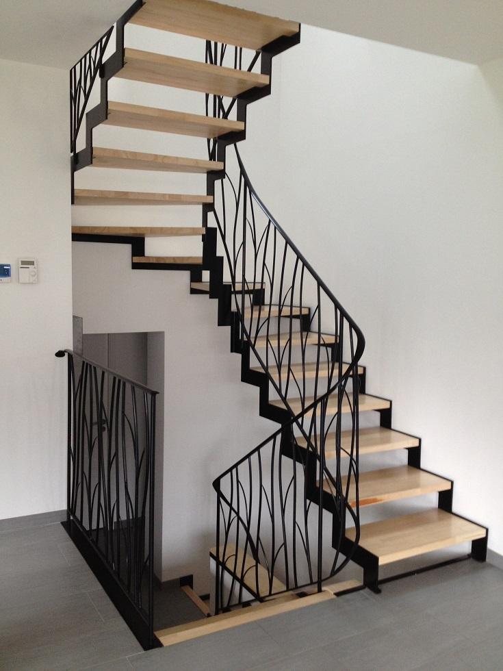 Fabricant escalier acier au Grand Bornand